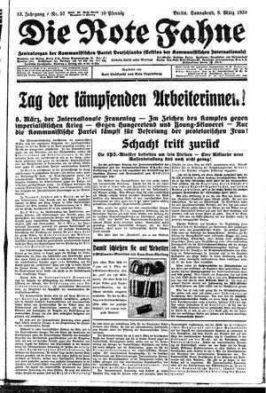 ˜Dieœ rote Fahne vom 08.03.1930