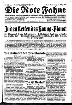 ˜Dieœ rote Fahne vom 13.03.1930