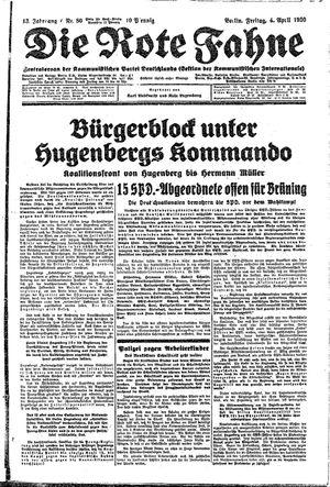 ˜Dieœ rote Fahne vom 04.04.1930