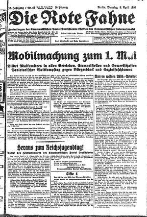 ˜Dieœ rote Fahne vom 08.04.1930