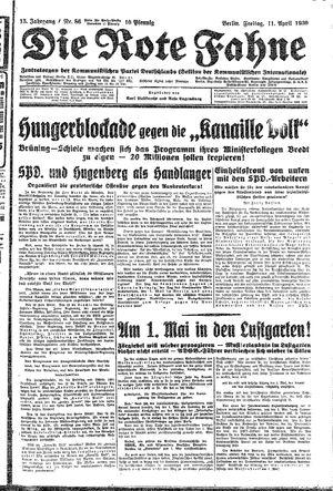 ˜Dieœ rote Fahne on Apr 11, 1930