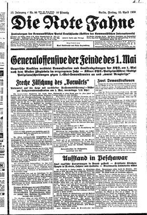 ˜Dieœ rote Fahne vom 25.04.1930