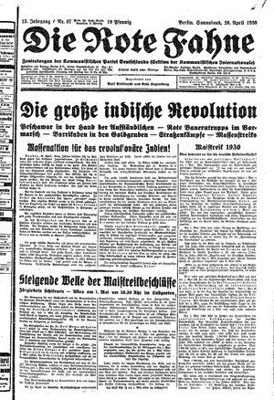 ˜Dieœ rote Fahne vom 26.04.1930