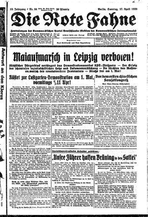 ˜Dieœ rote Fahne vom 27.04.1930