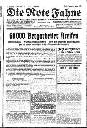 ˜Dieœ rote Fahne vom 04.01.1931