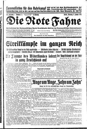 ˜Dieœ rote Fahne on Jan 6, 1931