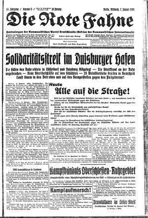 ˜Dieœ rote Fahne vom 07.01.1931