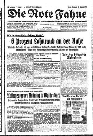 ˜Dieœ rote Fahne vom 11.01.1931
