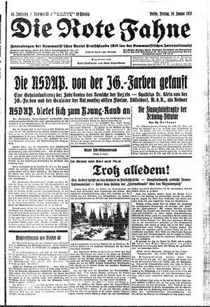 ˜Dieœ rote Fahne vom 16.01.1931