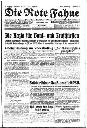 ˜Dieœ rote Fahne vom 22.01.1931