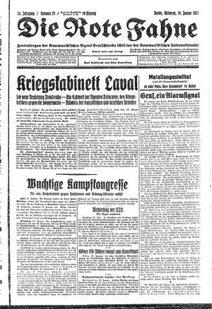˜Dieœ rote Fahne on Jan 28, 1931