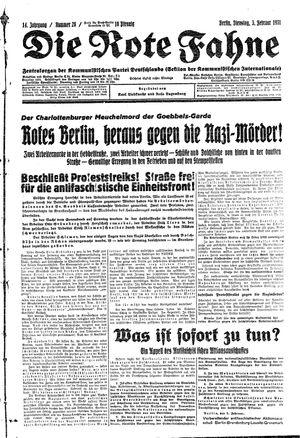 ˜Dieœ rote Fahne vom 03.02.1931