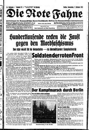 ˜Dieœ rote Fahne vom 07.02.1931