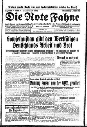 ˜Dieœ rote Fahne vom 08.02.1931
