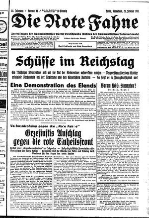 ˜Dieœ rote Fahne vom 21.02.1931