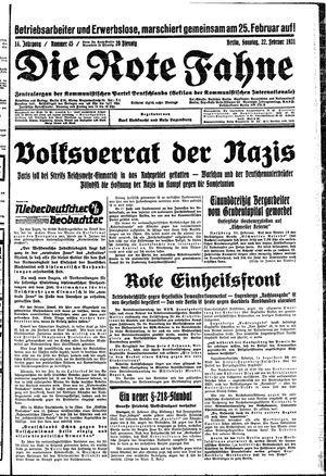 ˜Dieœ rote Fahne on Feb 22, 1931
