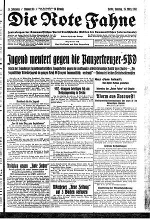 ˜Dieœ rote Fahne on Mar 15, 1931