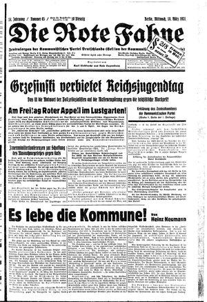 ˜Dieœ rote Fahne vom 18.03.1931
