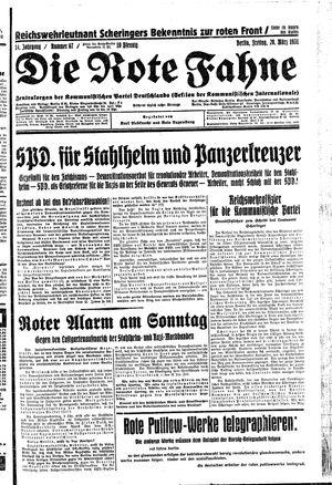˜Dieœ rote Fahne vom 20.03.1931