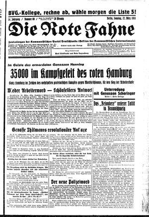 ˜Dieœ rote Fahne vom 22.03.1931