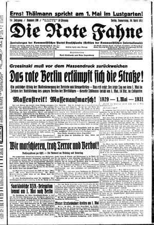 ˜Dieœ rote Fahne vom 30.04.1931