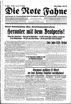 ˜Dieœ rote Fahne vom 06.05.1931