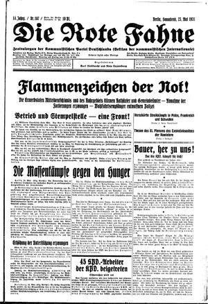 ˜Dieœ rote Fahne vom 23.05.1931