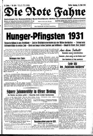 ˜Dieœ rote Fahne vom 24.05.1931