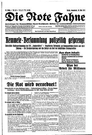 ˜Dieœ rote Fahne vom 30.05.1931