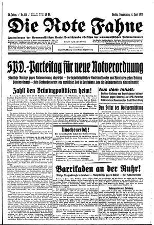 ˜Dieœ rote Fahne vom 04.06.1931
