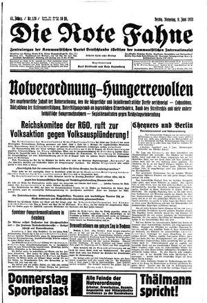 ˜Dieœ rote Fahne vom 09.06.1931