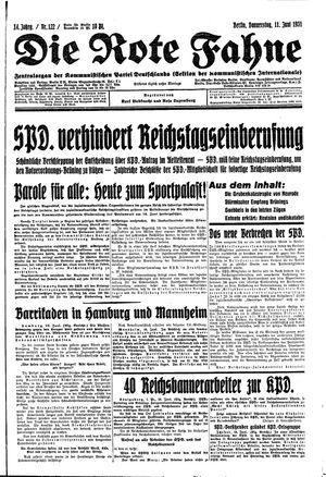 ˜Dieœ rote Fahne on Jun 11, 1931