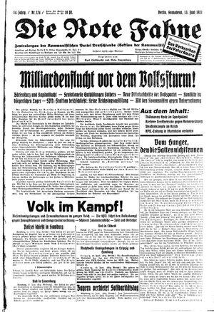 ˜Dieœ rote Fahne vom 13.06.1931