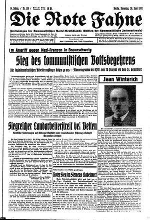 ˜Dieœ rote Fahne vom 30.06.1931
