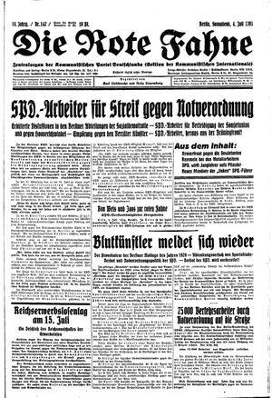 ˜Dieœ rote Fahne vom 04.07.1931