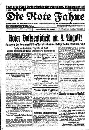 ˜Dieœ rote Fahne vom 24.07.1931
