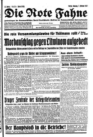 ˜Dieœ rote Fahne vom 07.02.1932