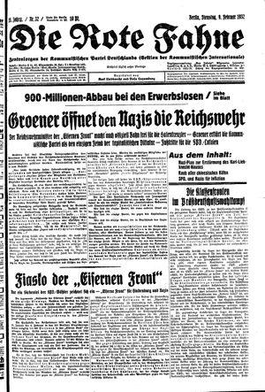 ˜Dieœ rote Fahne vom 09.02.1932