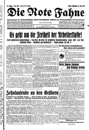 ˜Dieœ rote Fahne vom 20.07.1932