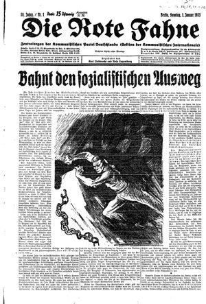 ˜Dieœ rote Fahne vom 01.01.1933