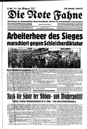 ˜Dieœ rote Fahne vom 05.01.1933