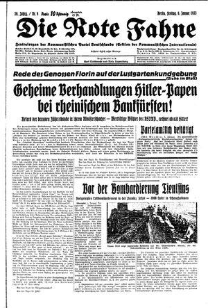 ˜Dieœ rote Fahne vom 06.01.1933