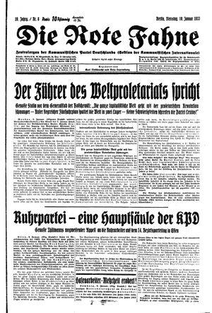 ˜Dieœ rote Fahne vom 10.01.1933