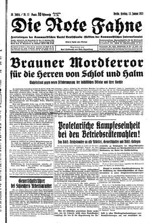 ˜Dieœ rote Fahne vom 13.01.1933