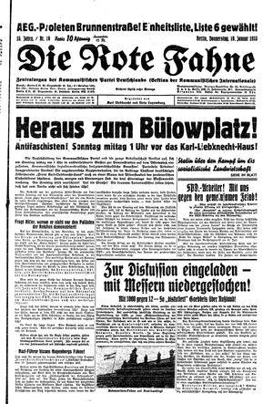 ˜Dieœ rote Fahne vom 19.01.1933