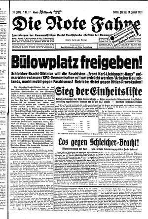 ˜Dieœ rote Fahne vom 20.01.1933