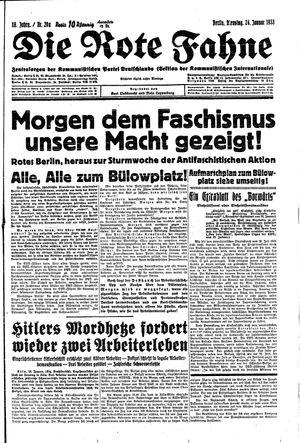 ˜Dieœ rote Fahne vom 24.01.1933