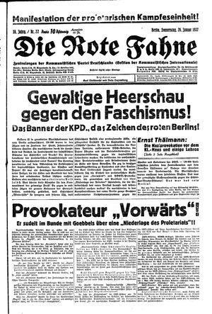˜Dieœ rote Fahne vom 26.01.1933