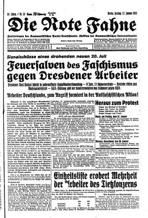 ˜Dieœ rote Fahne vom 27.01.1933