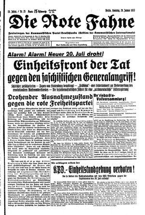 ˜Dieœ rote Fahne vom 29.01.1933